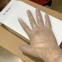 sarung tangan vinyl PVC isi 100 box putih