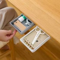Under Table Drawer Case Laci Mini Tambahan Tempel Bawah Meja Sebaguna