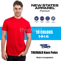 Kaos Polos New States Apparel Premium Cotton 7200 (COLOR, SIZE S-XL)