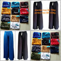 Celana Kulot Wanita/spandex balon/ Tebal, adem, nyaman dipakai/Murah - Coklat tua, Standar