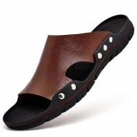 Sandal Pria Kulit Sapi Asli Import Fashion 3891
