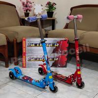 Mainan Scooter Anak Roda 3 / Otoped Roda Nyala Lampu