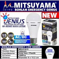 Bohlam Emergency Genius Mitsuyama MS E1815 AC/DC 15W / Emergency Lamp