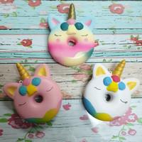Squishy Murah Rainbow Unicorn Donut