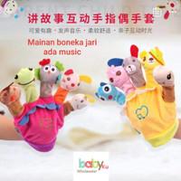 Mainan boneka jari ada music / hand puppet music