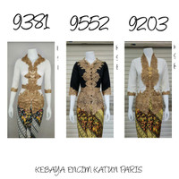 9212 Indah Kebaya Modern Encim Kutubaru Bali Murah Batik Bordir Brokat