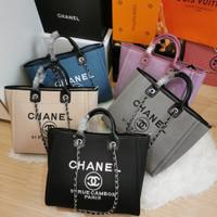 Tas Chan*l Deauville Totebag wanita import premium quality tote bag