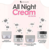 Cream Malam Ms Glow//Acne, Whitening, Luminous, Ultimate