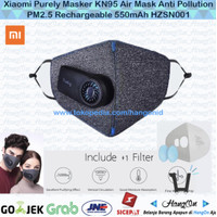 Xiaomi Purely Masker KN95 Air Mask Anti Pollution PM2.5 550mAh HZSN001