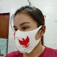 masker scuba merah putih