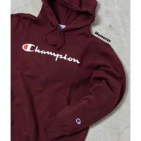 Champion Hoodie Script Maroon Original