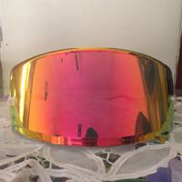 Flat Visor Shoei X14/Z7/Xspirit iii Iridium Red Gold Clone