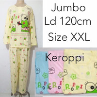 baju tidur piyama dewasa wanita lengan panjang jumbo kaos karakter
