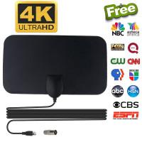 Antena TV Digital DVB-T2 4K High Gain 25dB Indoor Dalam Rumah Tv Led L
