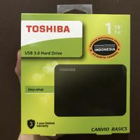 HDD Toshiba Canvio Basic 1TB HD Hardisk Harddisk Eksternal External