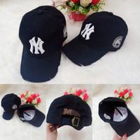 Topi Baseball NewYork(NY) Bordiran(Black)