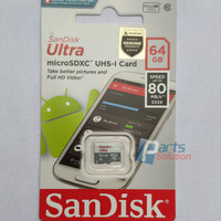 Memory Micro SD Card SanDisk Ultra microSDXC Class 10 64GB 80MB/s