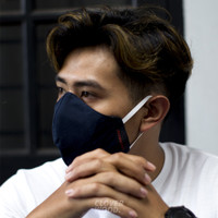 Cloverwood Half Face-Unisex Mask - Water Resistanr - Hitam