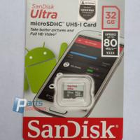 Memory Micro SD Card SanDisk Ultra microSDHC Class 10 32GB 80MB/s