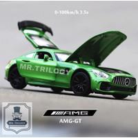 Diecast mobil/ miniatur mobil Mercedes Benz AMG-GT 1:32, mobil mainan