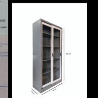 lemari arsip pintu kaca sliding