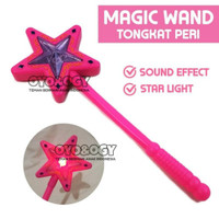 mainan anak perempuan tongkat peri stick lampu suara
