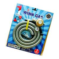 SELANG PLUS REGULATOR GAS WINN GAS Anti Bocor & Anti gigitan Tikus