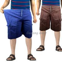Celana pendek pria celana pendek cargo Big Size - cvs
