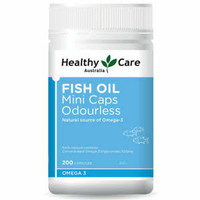 healthy care fish oil odourless omega 3 minyak ikan 1000 mg 200 mini