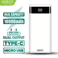 Powerbank Robot RT160 10000 mAh Digital Display & Dual Usb Input
