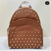 tas wanita michael kors abbey medium studded backpack luggage br