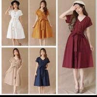 Mikha Dress (LD 92, P 91) fit to L Bahan twiscone - Maron