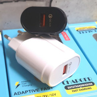 Travel Charger QC 3.0 fast charger samsung oppo - Hitam