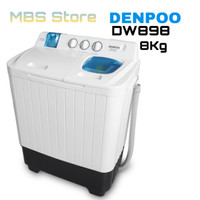 Mesin Cuci Denpoo Semi Auto 2 Tabung DW 898SP, 8KG 4 PULSATOR