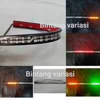 Lampu Stop Flexible Led Strip 3in1 Belakang Motor Rem Sein Senja 12v