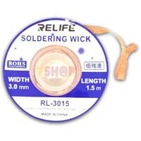 SOLDERING WICK - KAWAT PEMBERSIH TIMAH RELIFE RL-3015 3.0mm