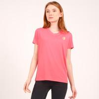 Unisex v neck T shirt pink