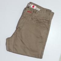 HUGO®JAPAN . 33~38 . celana panjang pria kanvas casual - Abu-abu, 33