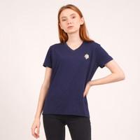 Pilot The Label X Saab Shares vneck tshirt kaos unisex Blue