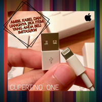 kabel charger iphone 7 ipad 6 ori second murah