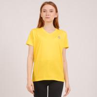 Unisex V neck T shirt in Yellow
