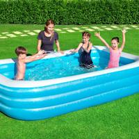 Kolam Renang Anak 3meter BESTWAY Deluxe Blue Rectangular Family Pool