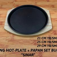 """PIRING HOT PLATE + PAPAN BULAT """"SINAR"""""""