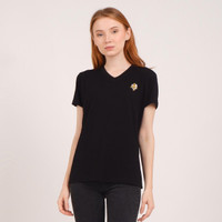 Unisex V neck T shirt Black