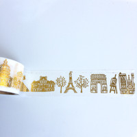 washi tape foil seven wonder of the world