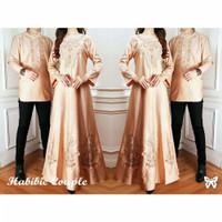 Habibi Baju couple pasangan baju muslim terbaru baju pria+gamis wanita