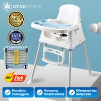 Kursi Makan Bayi Lipat Travel 3in1 StarHome Portable Baby Chair