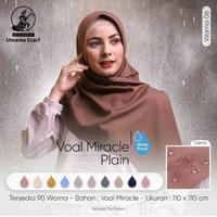 Hijab Jilbab Kerudung Segiempat voal miracle waterproof (Lc) by Umama