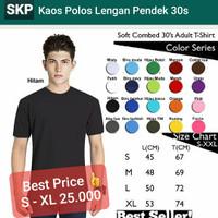 Kaos Polos Oblong Pendek Soft Combed 30s - Paling Murah