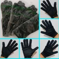 Sarung tangan kain lembut hitam medical glove anti virus 1 Lusin Promo